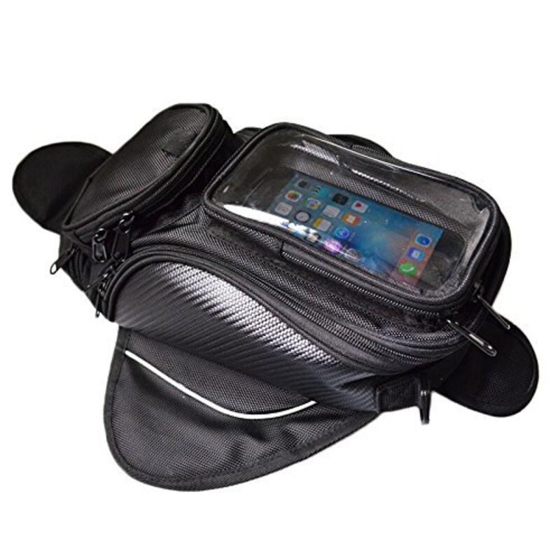 VISPRA,バイク用 タンクバッグ スマホツーリングバッグ ショルダーバッグ,YXB