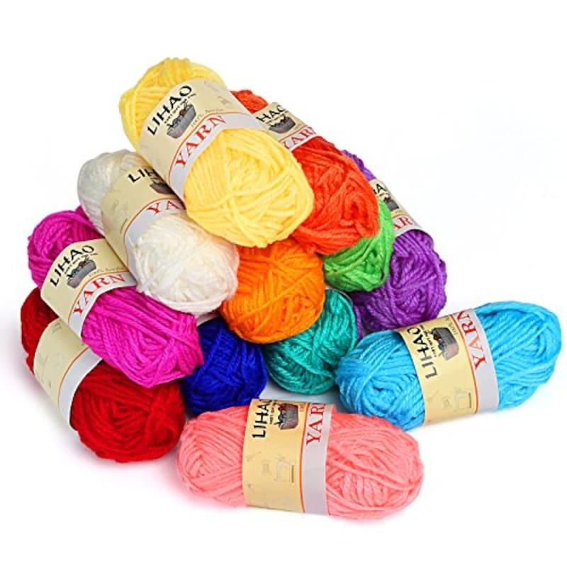 リハオ,アクリル毛糸12色セット,なし