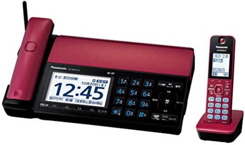 パナソニック,おたっくす デジタルコードレスFAX 子機1台付き,KX-PD915DL-R