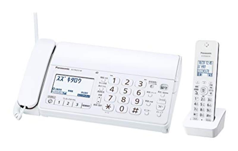 パナソニック,おたっくす デジタルコードレスFAX 子機1台付き,KX-PD215DL-W