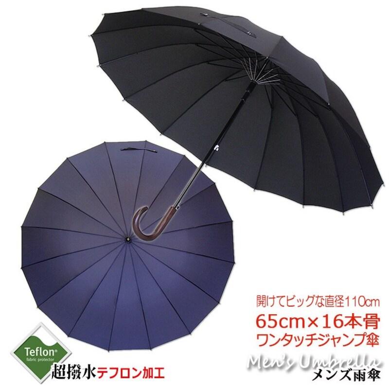じゃのめ堂,超撥水テフロン加工メンズ用長傘