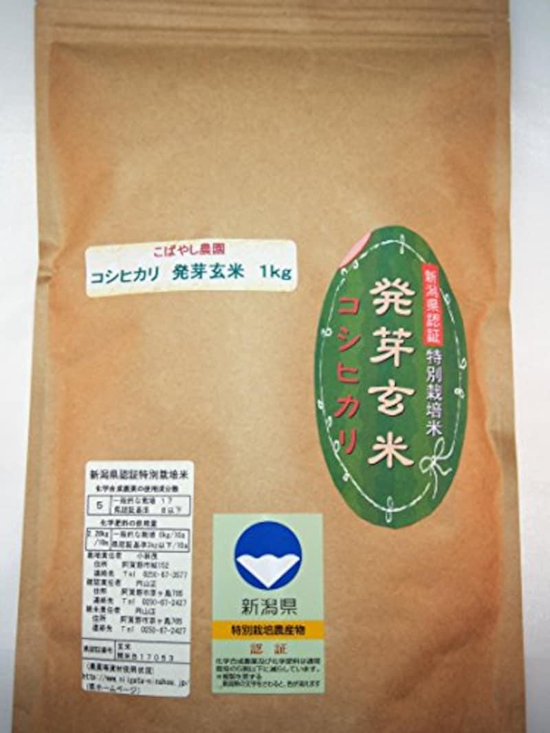 こばやし農園,発芽玄米  コシヒカリ( 新潟県産 特別栽培米)令和2年産 (1kg)