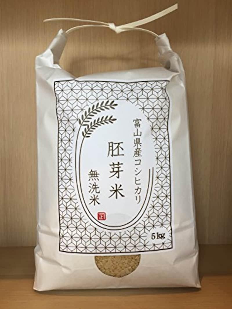 小張精米店,富山県産 胚芽米 無洗米 となみ野米 コシヒカリ