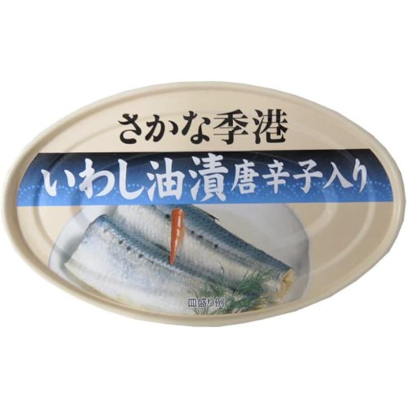 信田缶詰,いわし油漬け唐辛子入り