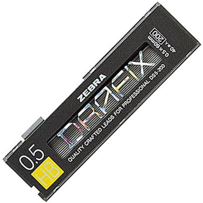 ゼブラ ,シャープペン芯 ドラフィックス 0.5 HB ,B-DS5-200-HB
