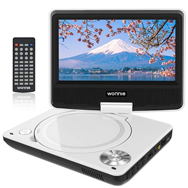 WONNIE,ポータブルDVDプレーヤー 7.5インチ,JP-WN-DVDplayer