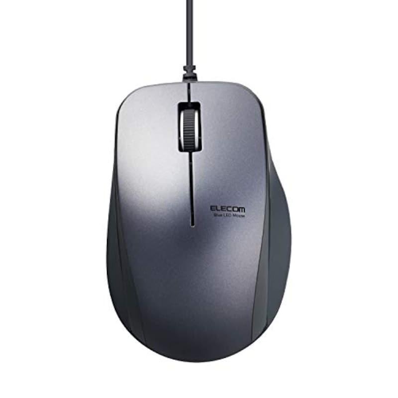 """ELECOM(エレコム),3ボタン 握りやすい""""手にぴた""""設計マウス ,M-BL27UBXBK"""