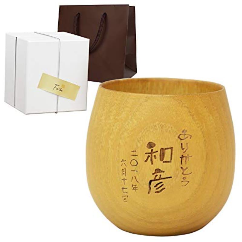 きざむ,焼酎グラス 木製 なつめ,cup-005x01-natural