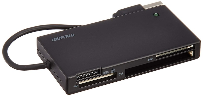 BUFFALO(バッファロー),高速カードリーダー/ライター 節電モデル,BSCR24EU2BK