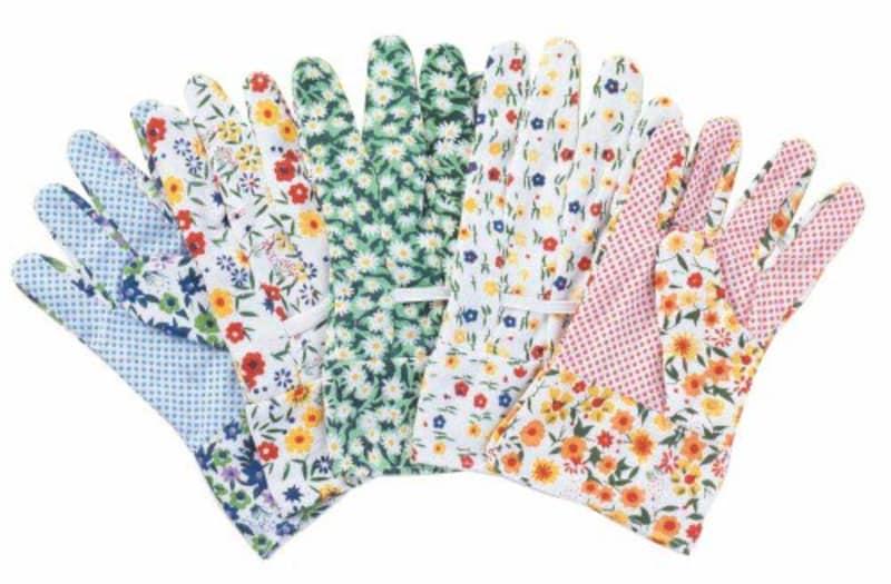 富士商,カラフル園芸手袋5双組
