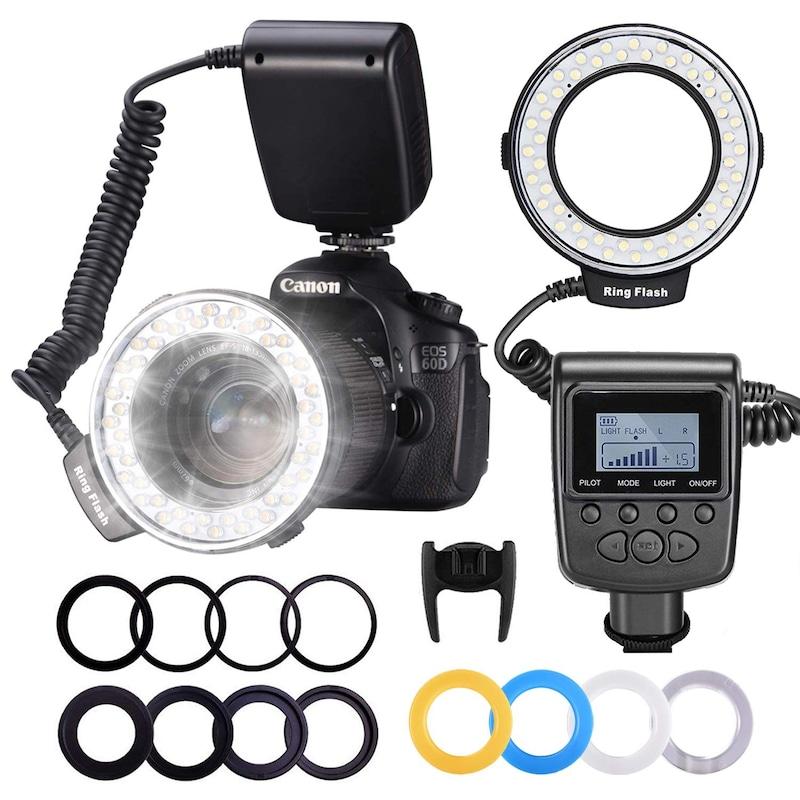 NEEWER,カメラ/一眼レンズカメラ用 接写専用ストロボ