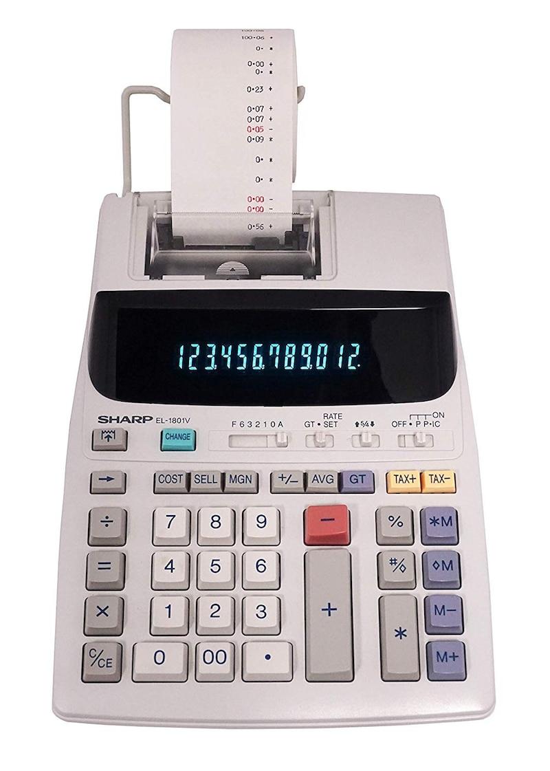 SHARP(シャープ),プリンター電卓,EL-1801V