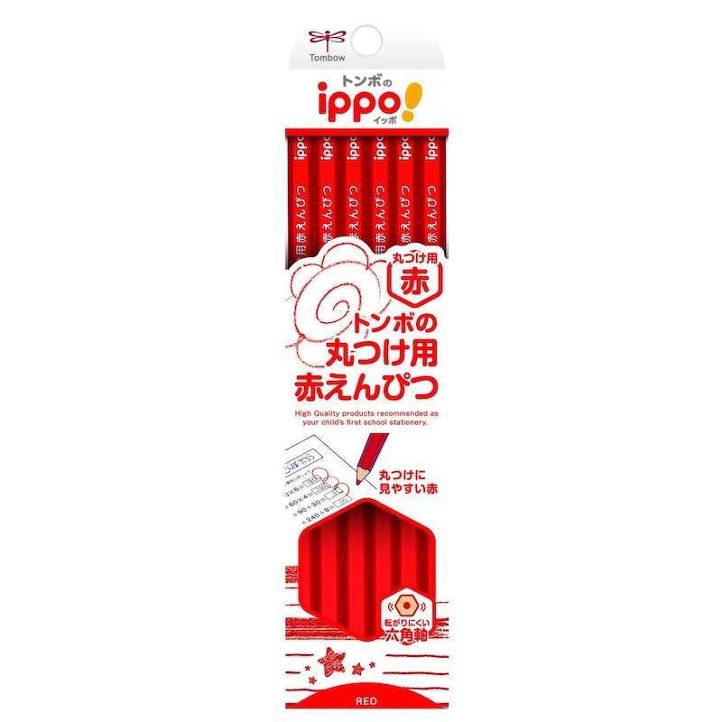 トンボ鉛筆,ippo! 丸つけ用赤えんぴつ,CV-KIV