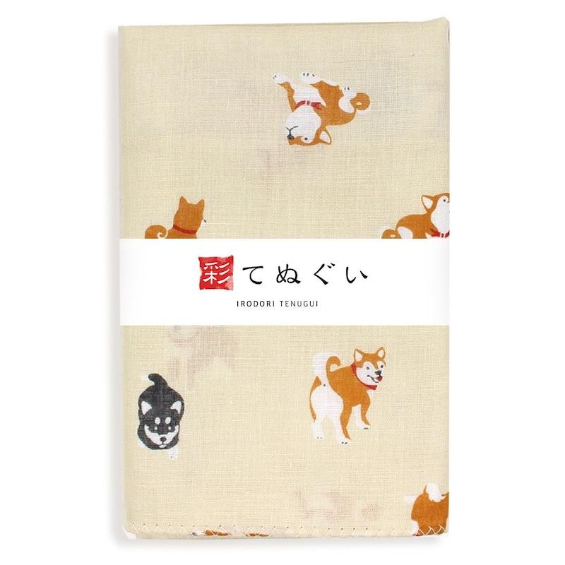 KOMESICHI,彩(irodori) ガーゼ手ぬぐい しばいぬ