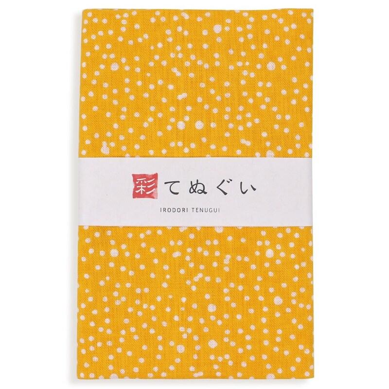 手ぬぐい(KOMESICHI),彩(irodori) 小紋手ぬぐい あられ(山吹),TE-06047M-IR