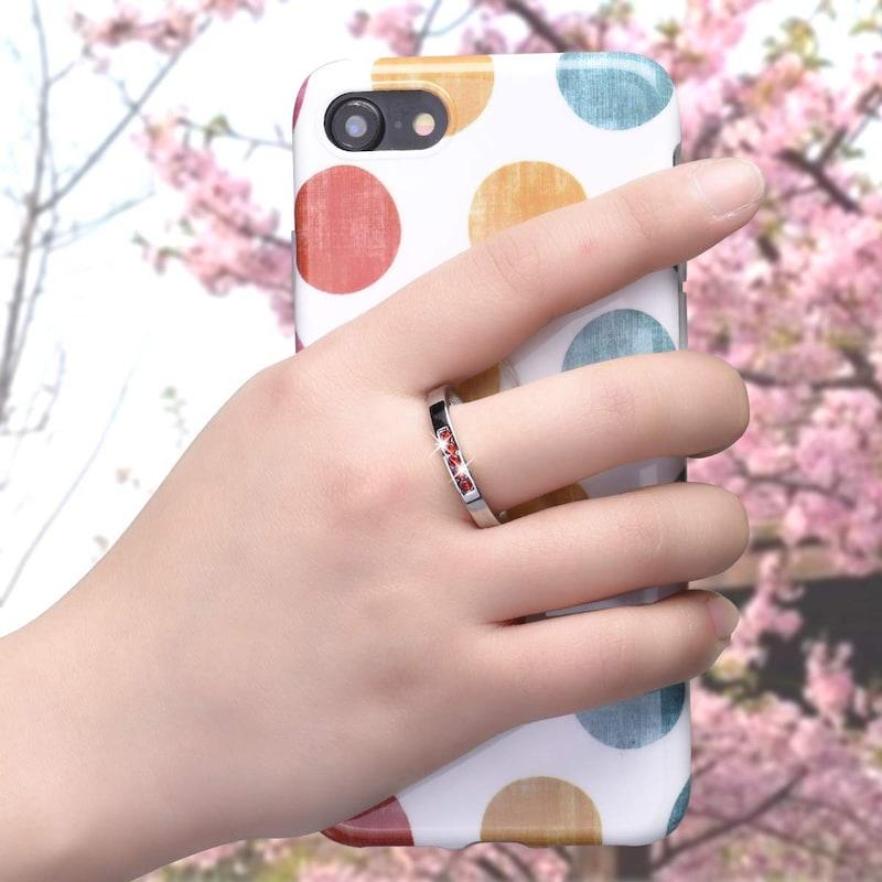 ChawsToo,桜型 スマホリング 2個入り,Sakura