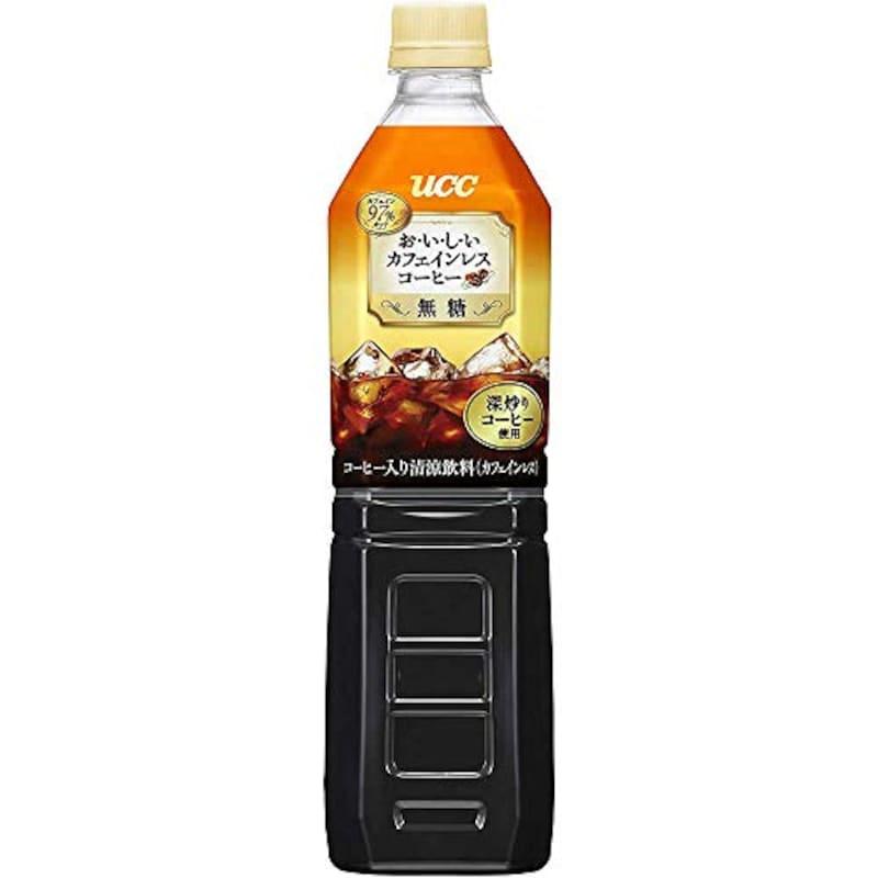 ucc,おいしいカフェインレス ボトルコーヒー 無糖 930ml×12