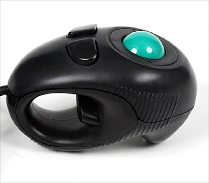 Groovy ,ハンディトラックボールマウス [ アナログ式センサー ] USB接続 ブラック ,GM-OPTB02B