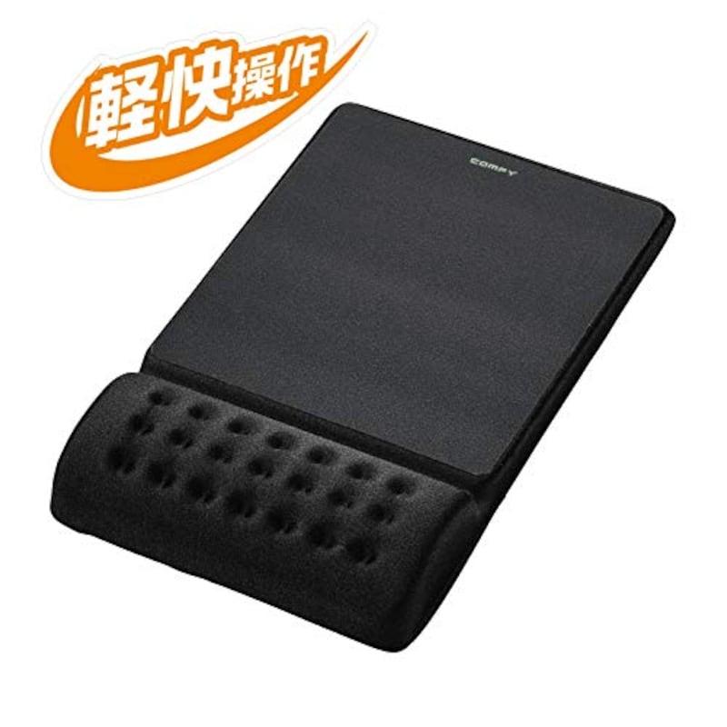エレコム(Elecom),マウスパッド リストレスト一体型,MP-096BK