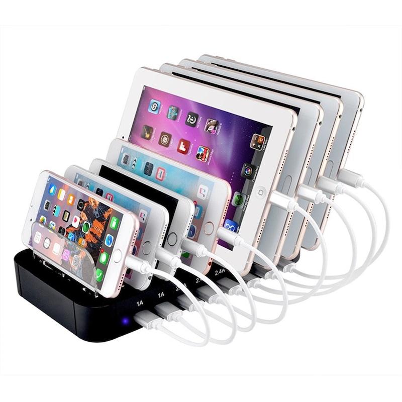 Evfun,USB充電ステーション,8port
