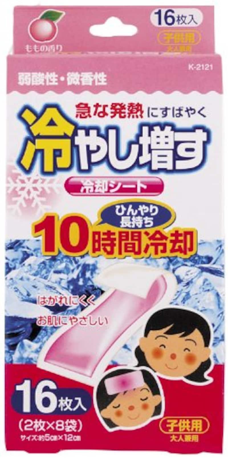 紀陽除虫菊,冷却シート 冷やし増す ももの香り