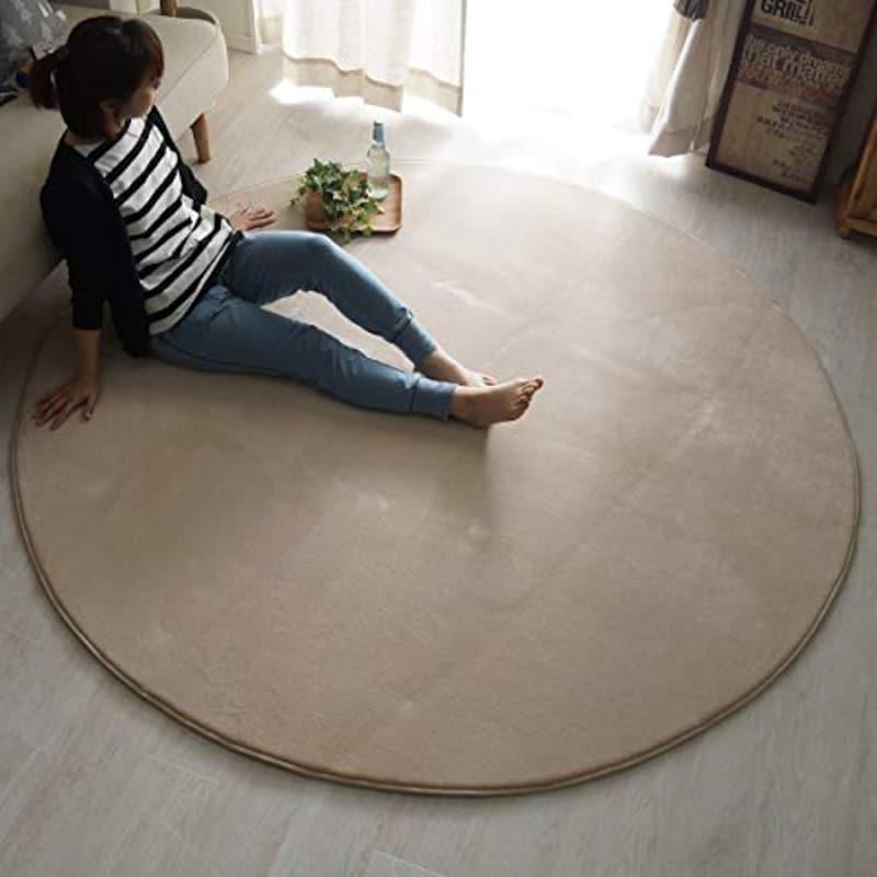 グラムスタイル,洗えるラグ 円形