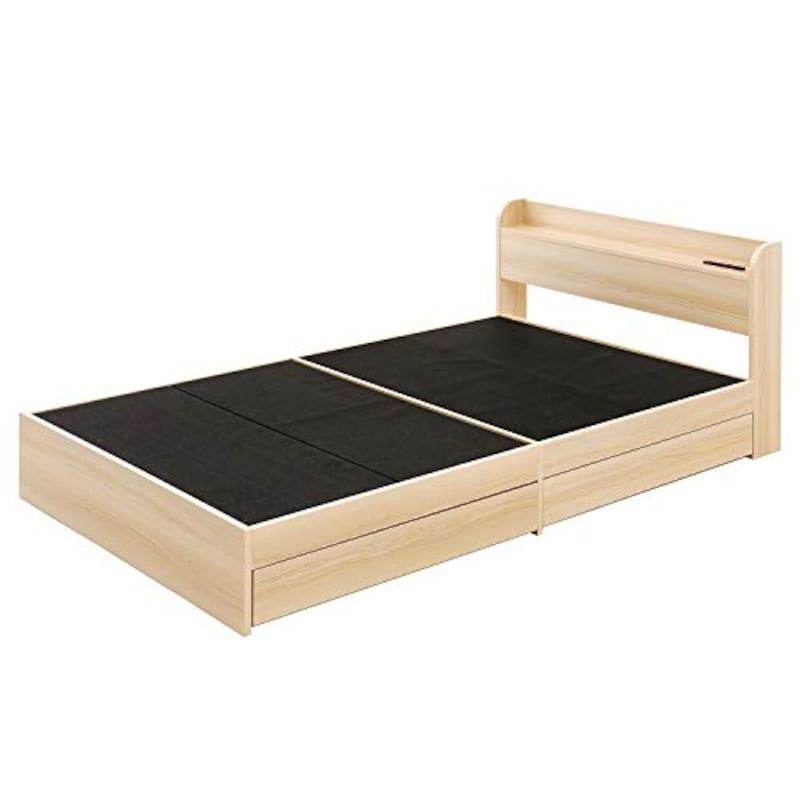モダンデコ,木製ベッド USBポート付き,ysb-4-s