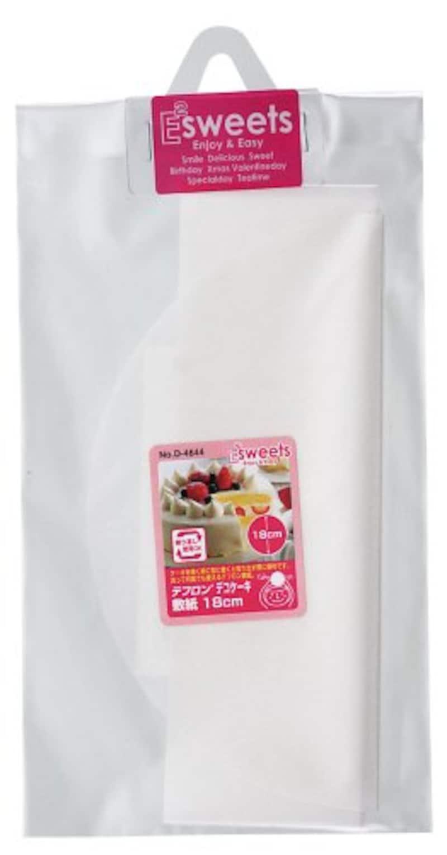 パール金属,EEスイーツ テフロン デコ ケーキ 敷紙 18cm,D-4644