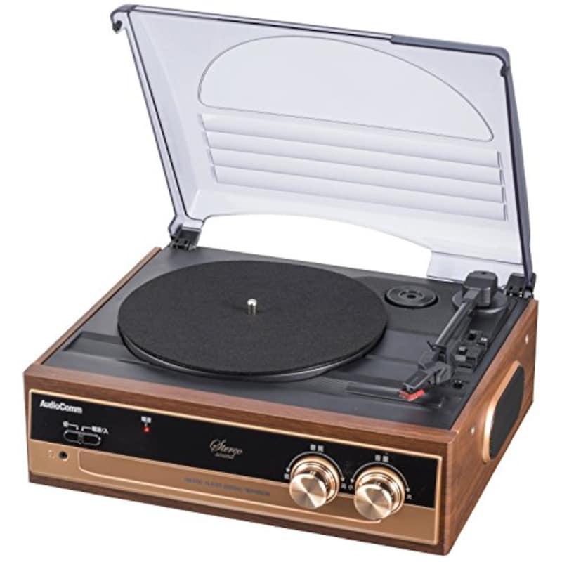 オーム電機,Audio Commレコードプレーヤーシステム ,RDP-B200N