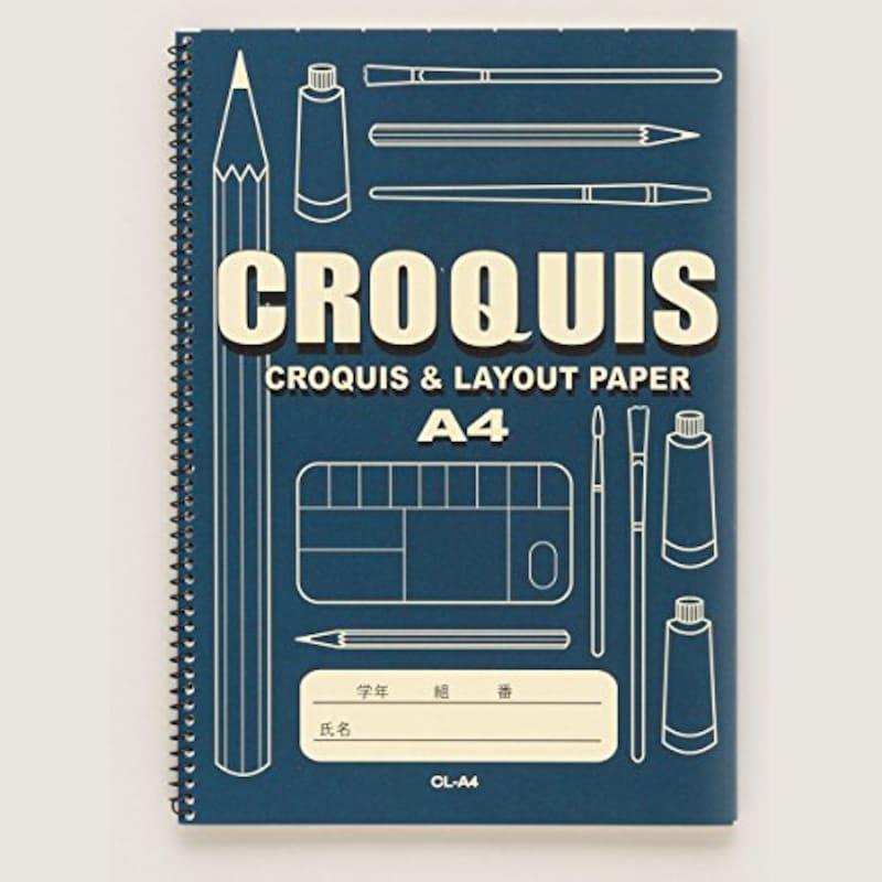 オリオン,クロッキーブック CL 40枚綴 A4