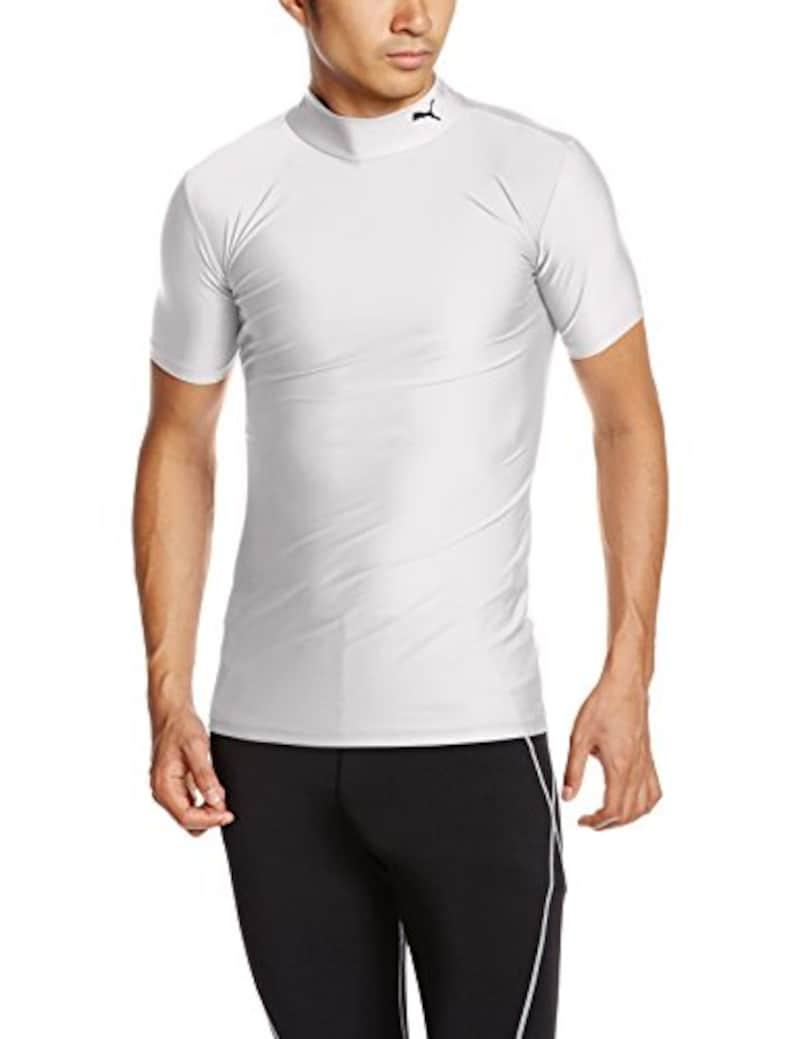 PUMA(プーマ),コンプレッション モックネック半袖シャツ,920582