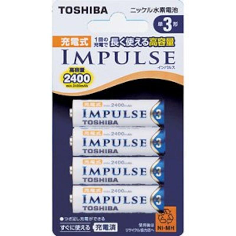 東芝(TOSHIBA),TOSHIBA ニッケル水素電池 充電式 単三