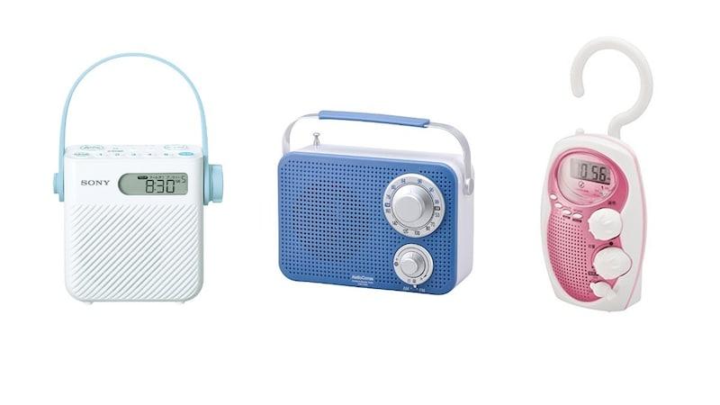 シャワーラジオのおすすめ人気ランキング8選|キッチンやお風呂に!