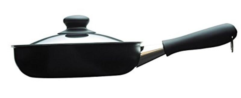 柳宗理 ,日本製 マグマプレート鉄フライパン 22cm IH対応 ふた付き