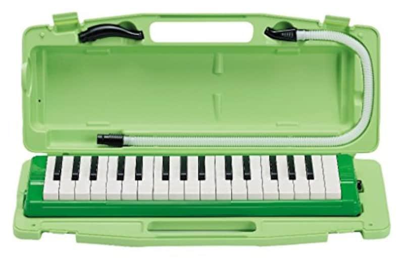 ゼンオン,鍵盤ハーモニカ ピアニー ハードケース入り ,323AH GREEN