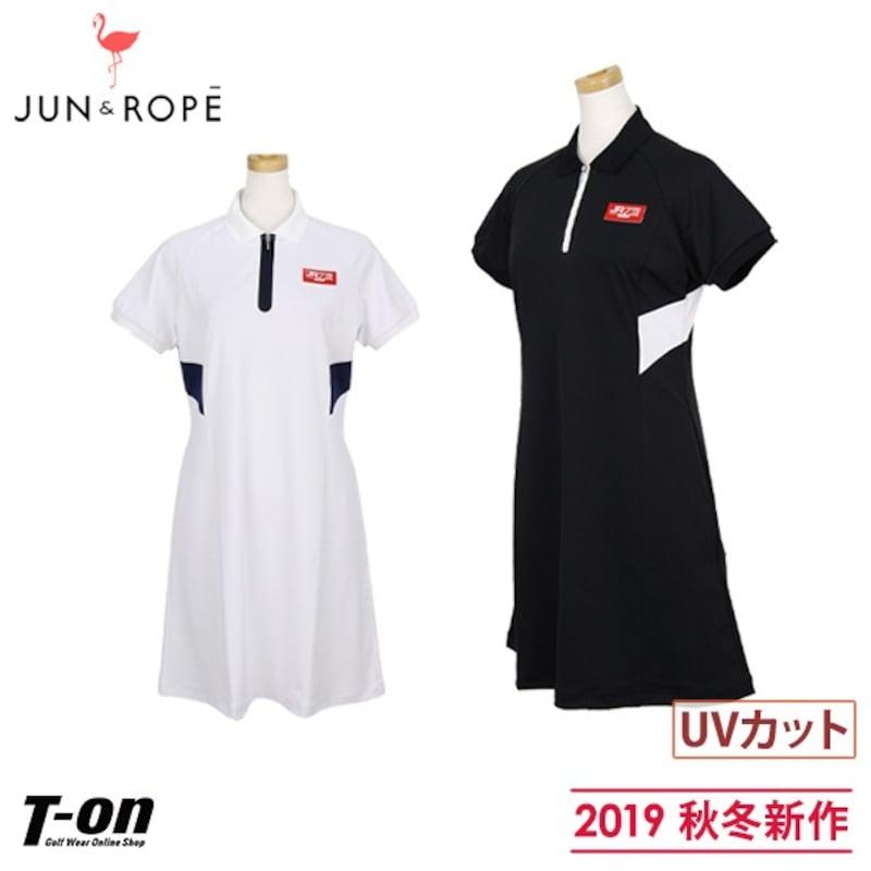 JUN&ROPE,バイカラーデザイン ワンピース
