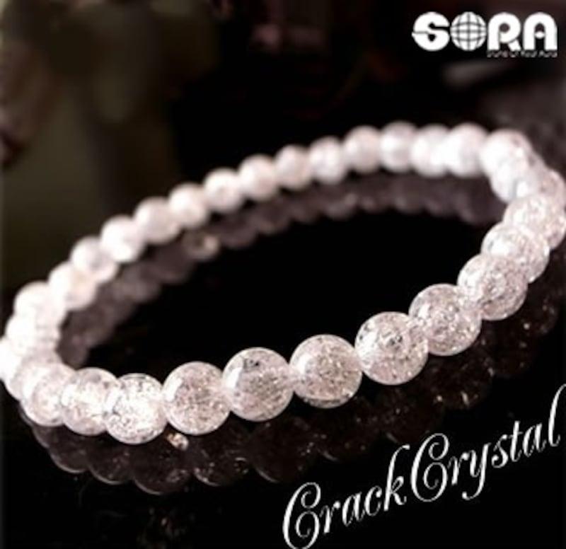 SORA,パワーストーン ブレスレット クラック水晶,69