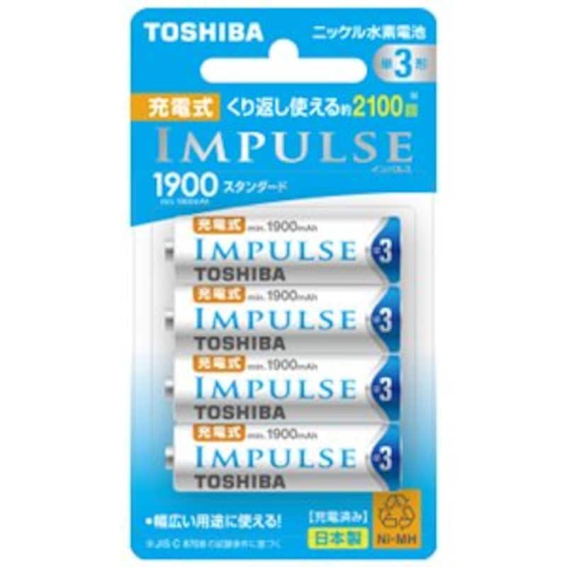 TOSHIBA ,充電式電池(単3形充電池4本セット),TNH-3ME4P