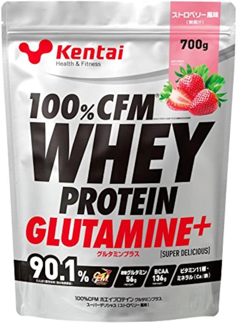 Kentai(健康体力研究所),CFMホエイプロテイン グルタミン+ ストロベリー風味
