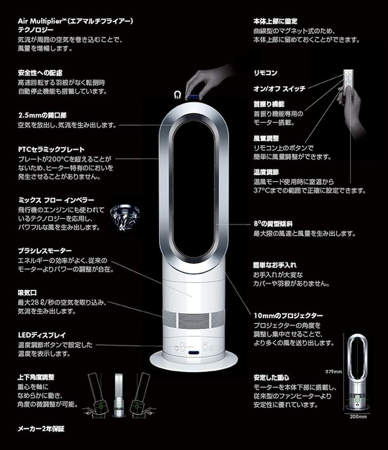 Dyson(ダイソン),hot + cool ファンヒーター,AM05