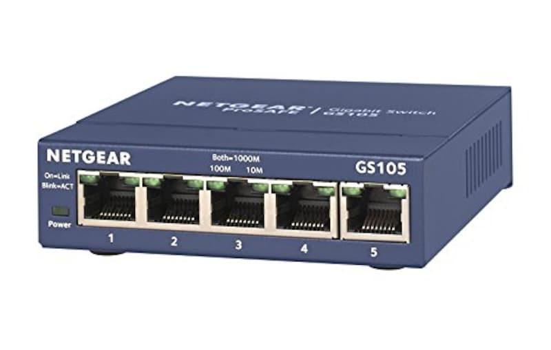 ネットギア,ギガビット5ポート アンマネージスイッチ,GS105-500JPS