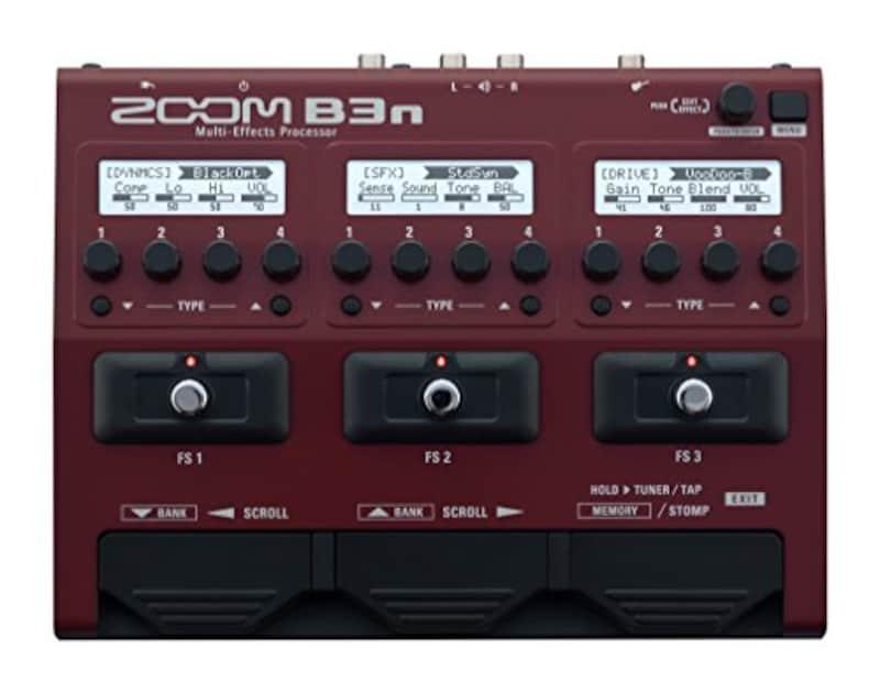 ZOOM,ベース用マルチエフェクツ・プロセッサ,B3n