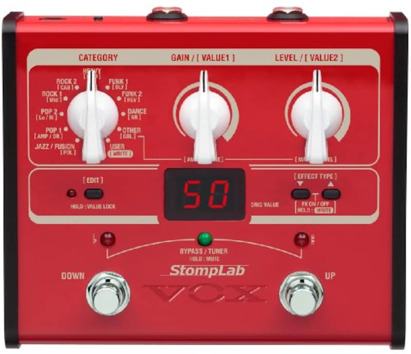 VOX,StompLab ベース用コンパクトマルチエフェクター,SL1B