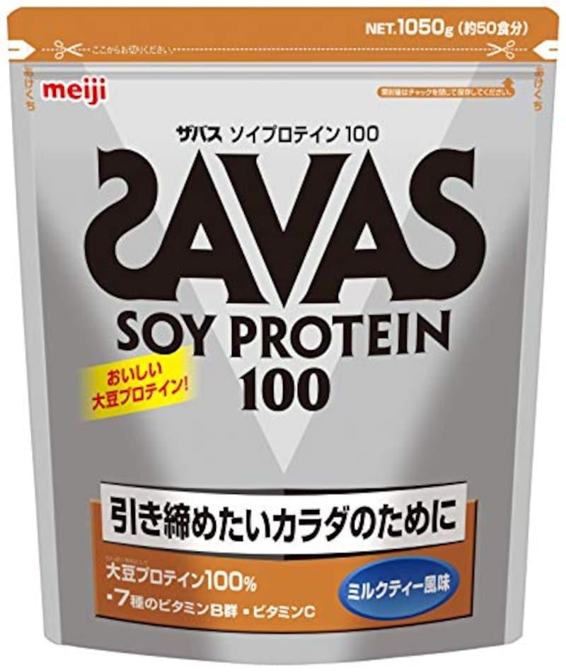 ザバス,ソイプロテイン100+ビタミン ミルクティー風味 1050g