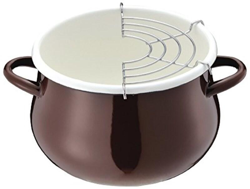 パール金属,ホーロー天ぷら鍋 16cm ,HB-1680