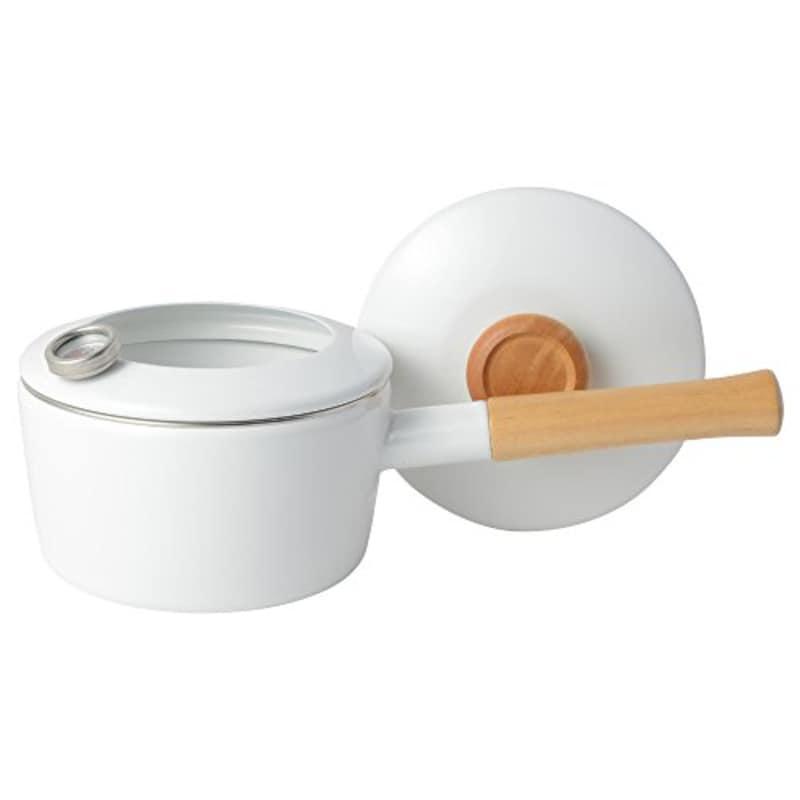 富士ホーロー,片手天ぷら鍋 温度計付き