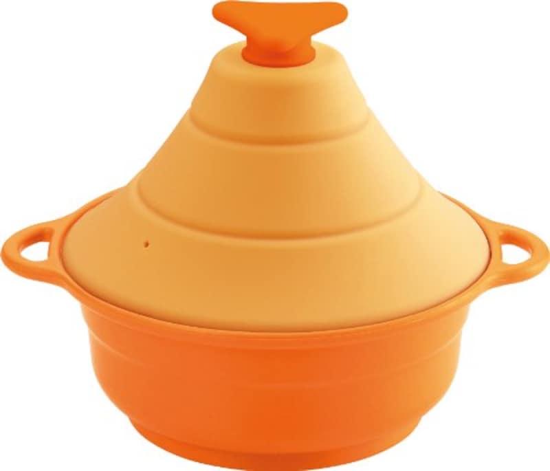 川崎合成樹脂,シリコーンマルチスチーマー レンジde3役 オレンジ