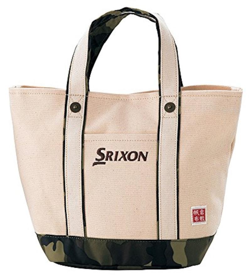 DUNLOP(ダンロップ),SRIXON 帆布ラウンドトートバッグ カモ柄,GGF-B4008