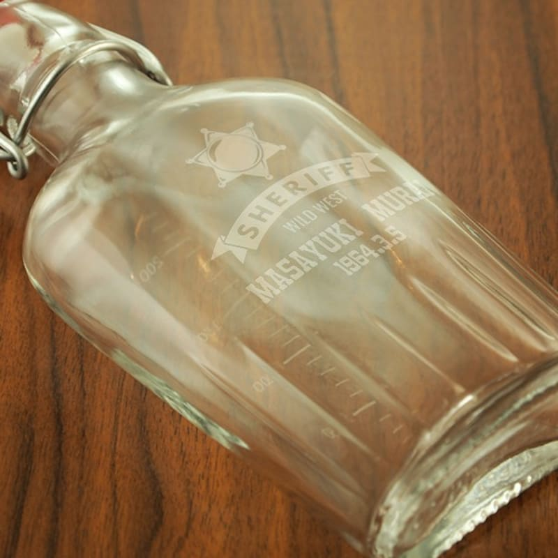 BORMIOLI ROCCO,ガラス製名入れスキットル
