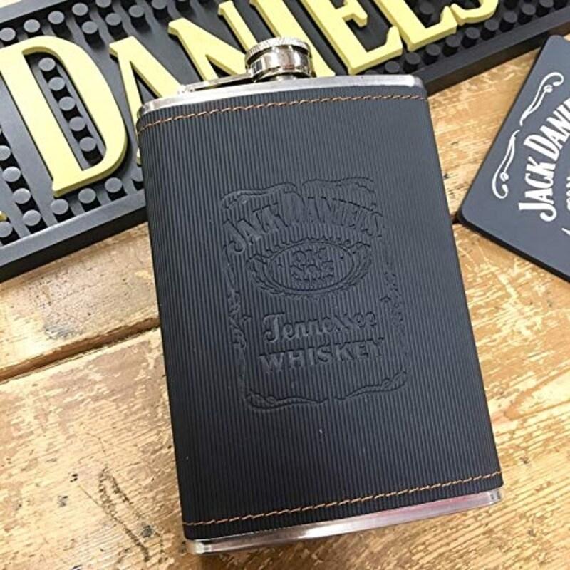 Jack Daniel's,ステンレス製 携帯用スキットル